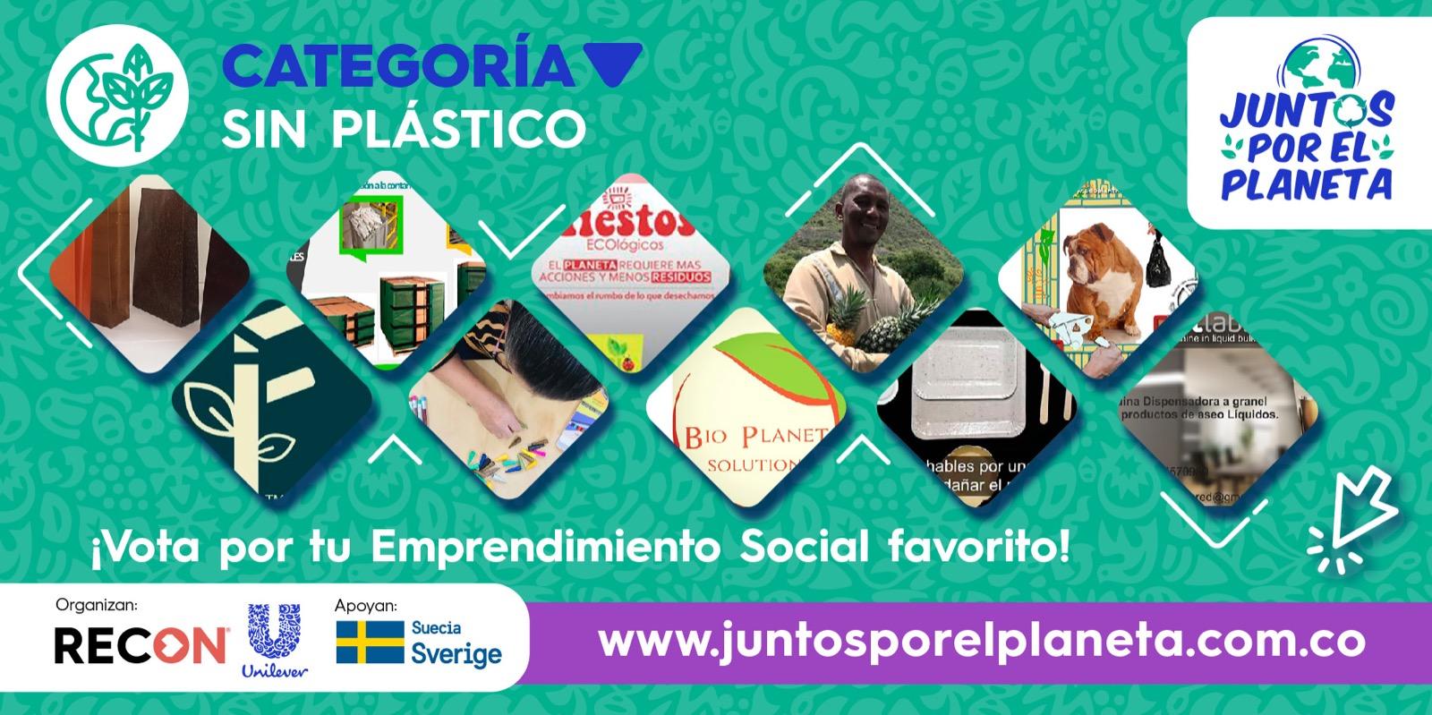 """Los 10 Emprendimientos Sociales de la categoría SIN plástico en """"Juntos Por El Planeta"""""""